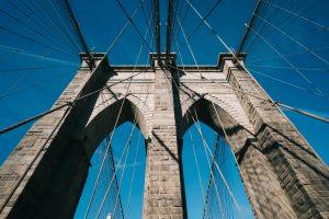 Sky and Brooklyn Bridge Detail
